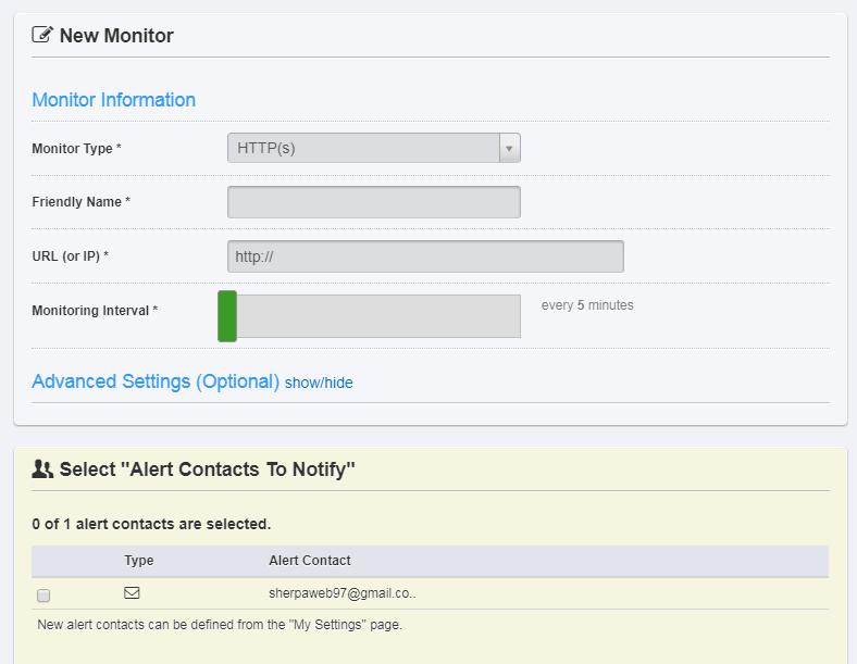añadir webs a monitorizar